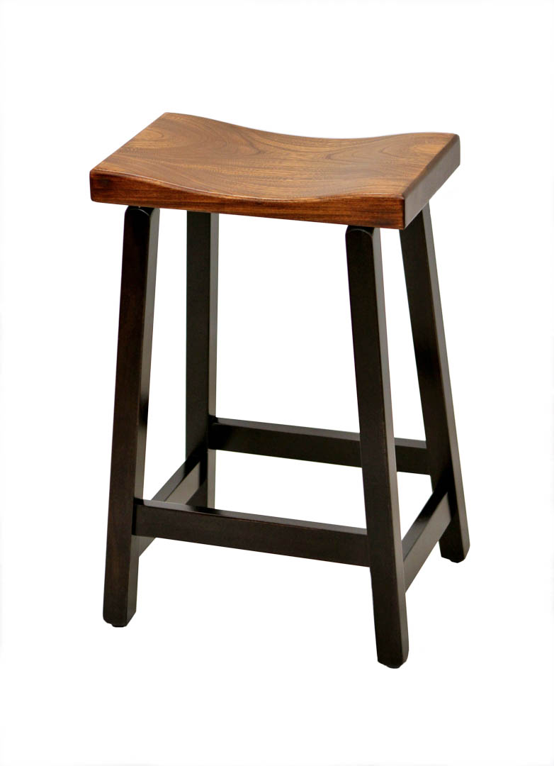24 Quot Urban Stool W Leather Seat Dutch Craft Furniture
