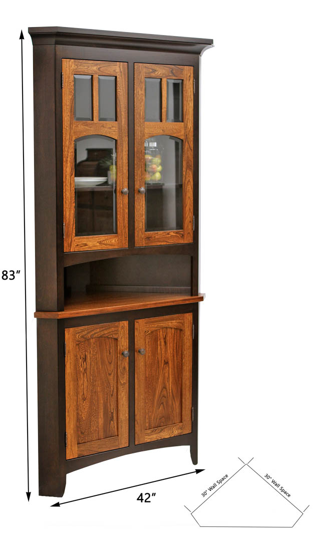 biltmore corner hutch dutch craft furniture