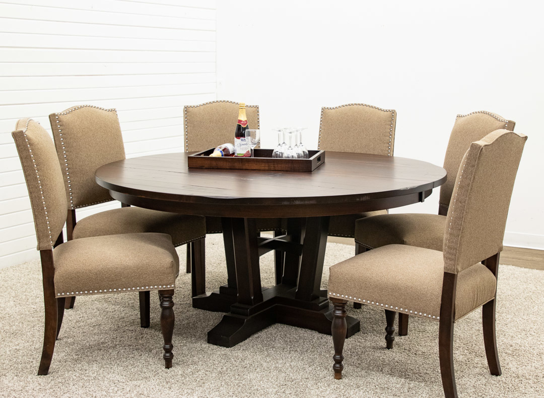 Albany Single Pedestal Table With 6 Emerson Dutch Craft Furniture