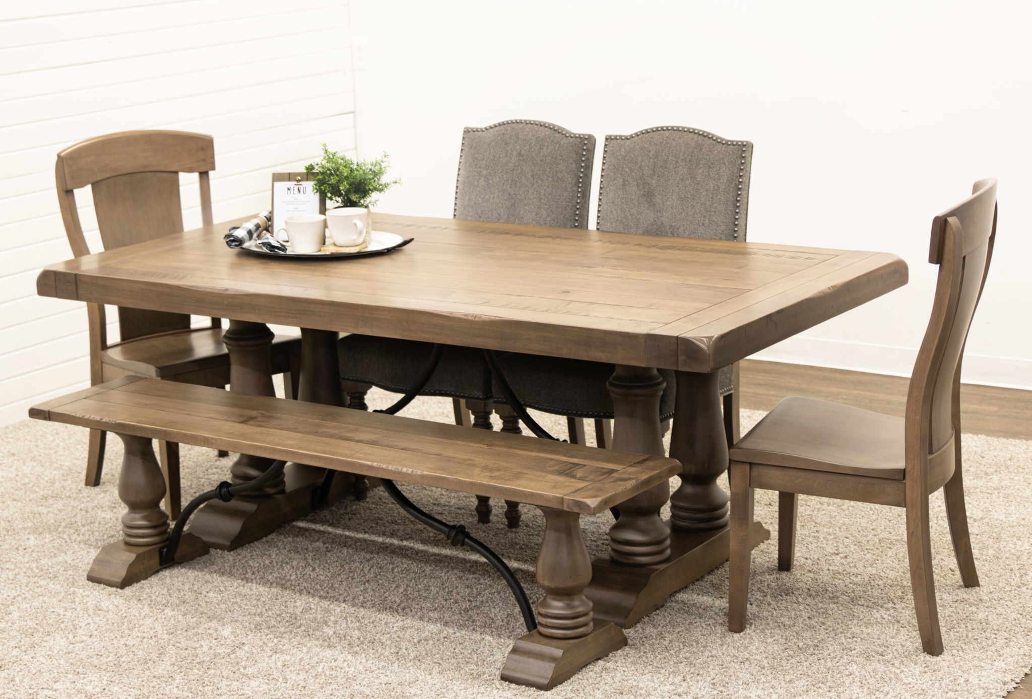 Incredible Alexandria Dining Table With 2 Kowan Chairs 2 Shreveport Chairs 1 Alexandria Bench Alexandria Dining Table With 2 Kowan Chairs 2 Shreveport Gmtry Best Dining Table And Chair Ideas Images Gmtryco