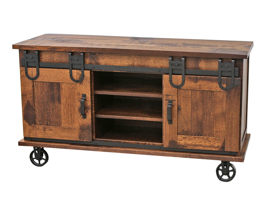 60  QSWO Barn Door TV Cart & 60