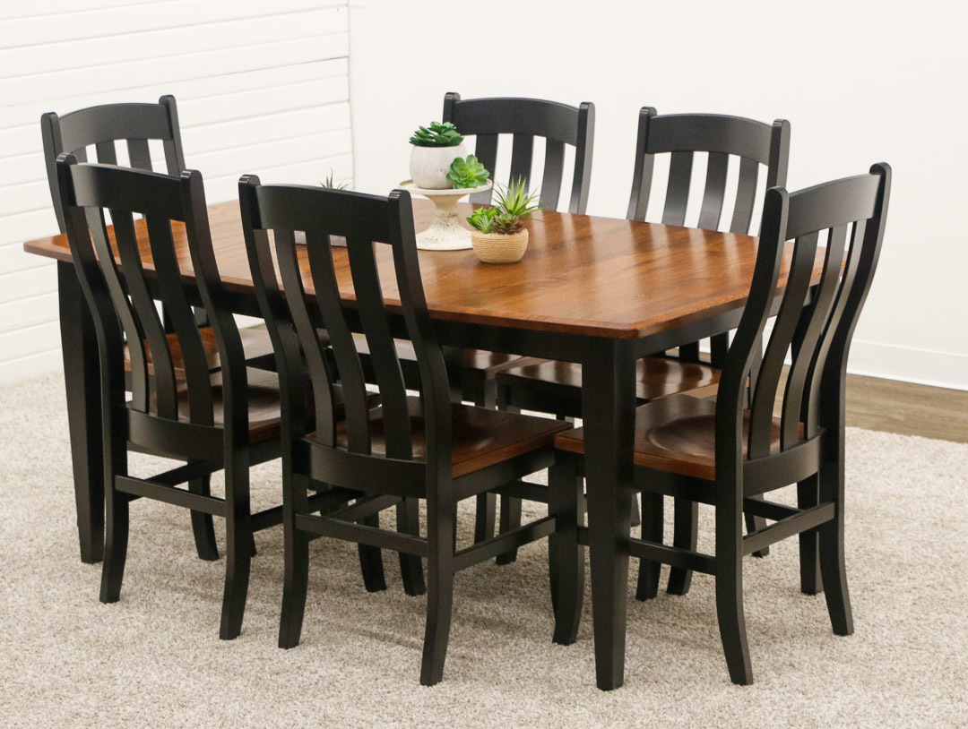 Classic Shaker Leg Table With 6, Shaker Dining Room Table And Chairs