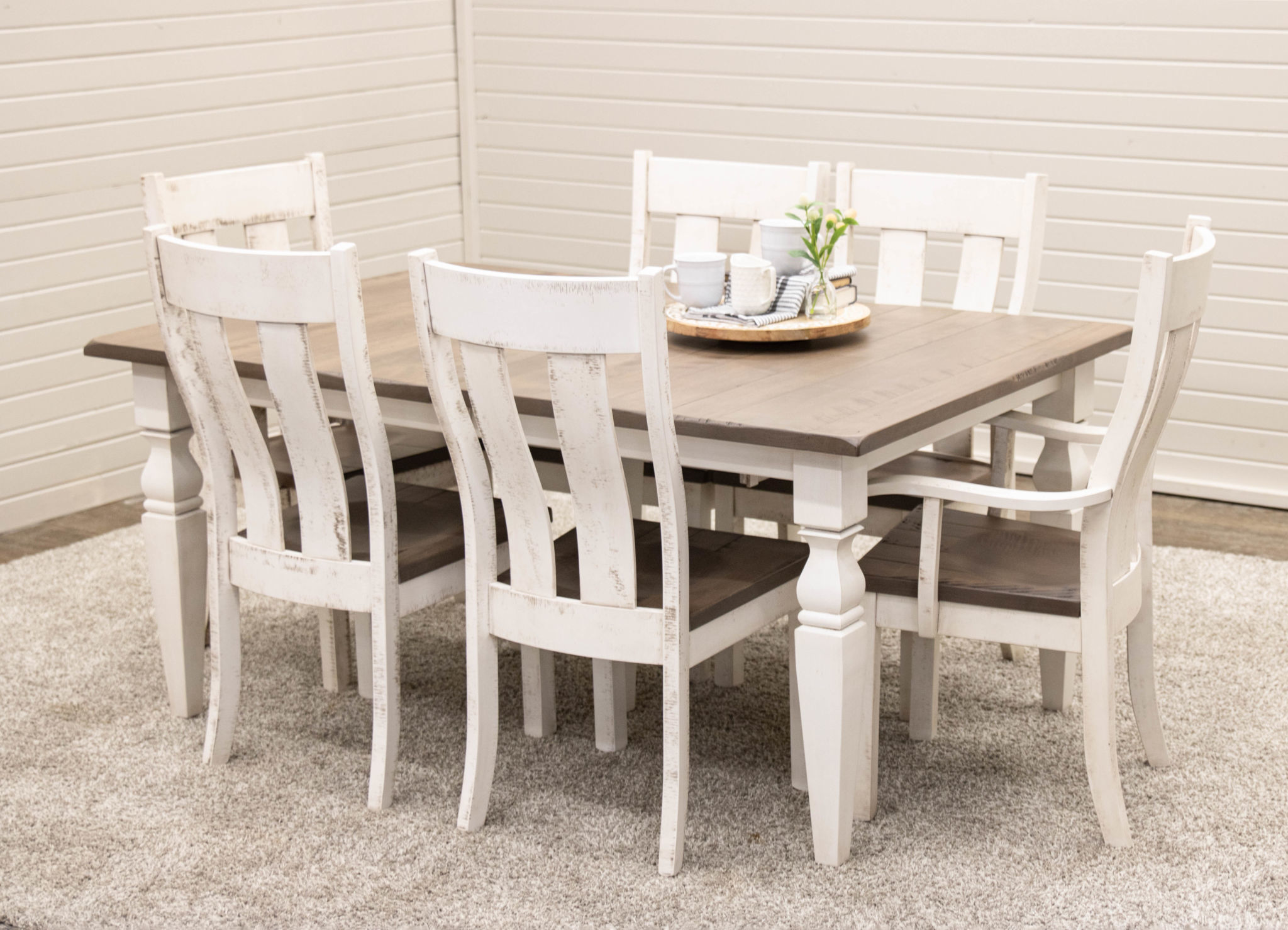 Cottage Dining Table With 6 Urbana Chairs Dutch Craft Furniture