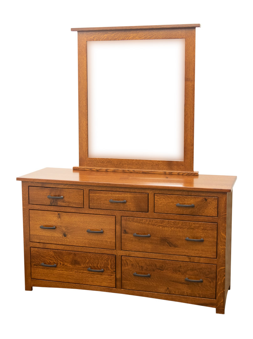 60 Craftsman Low Dresser Mirror Dutch Craft Furniture