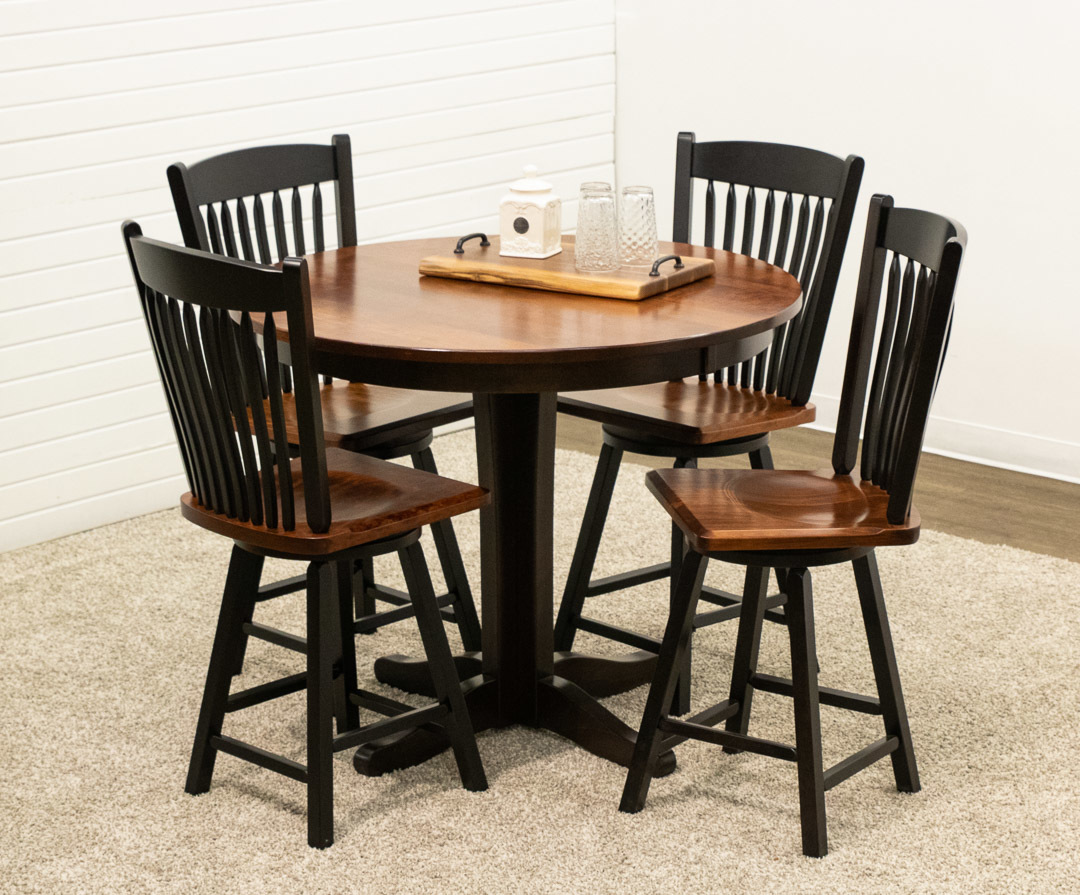Glacier pub table with 4 post mission swivel dutch craft furniture glacier pub table with 4 post mission swivel bar chairs watchthetrailerfo