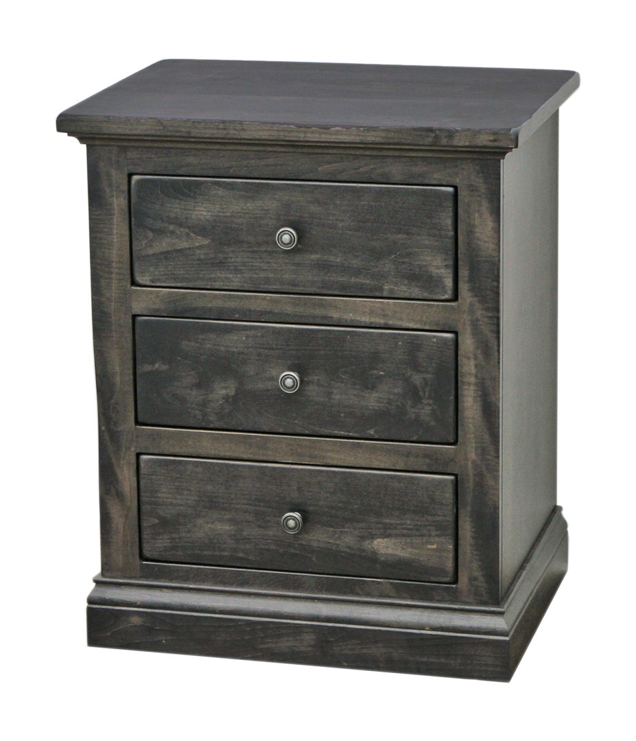 Portland 3-Drawer Nightstand