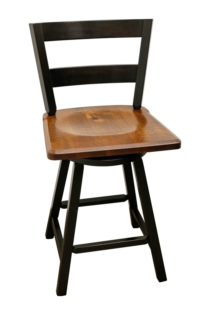 Whiskey Double Barrel Table With 6 Saddle Dutch Craft