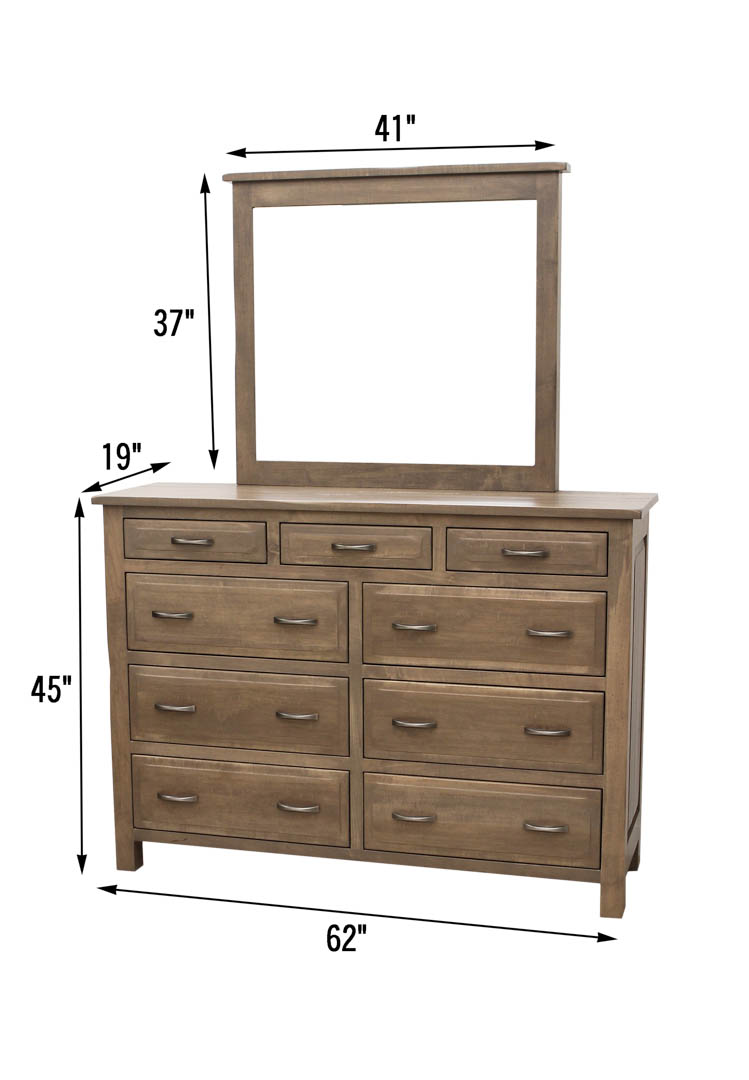 Savannah High Dresser amp Mirror Dutch Craft Furniture