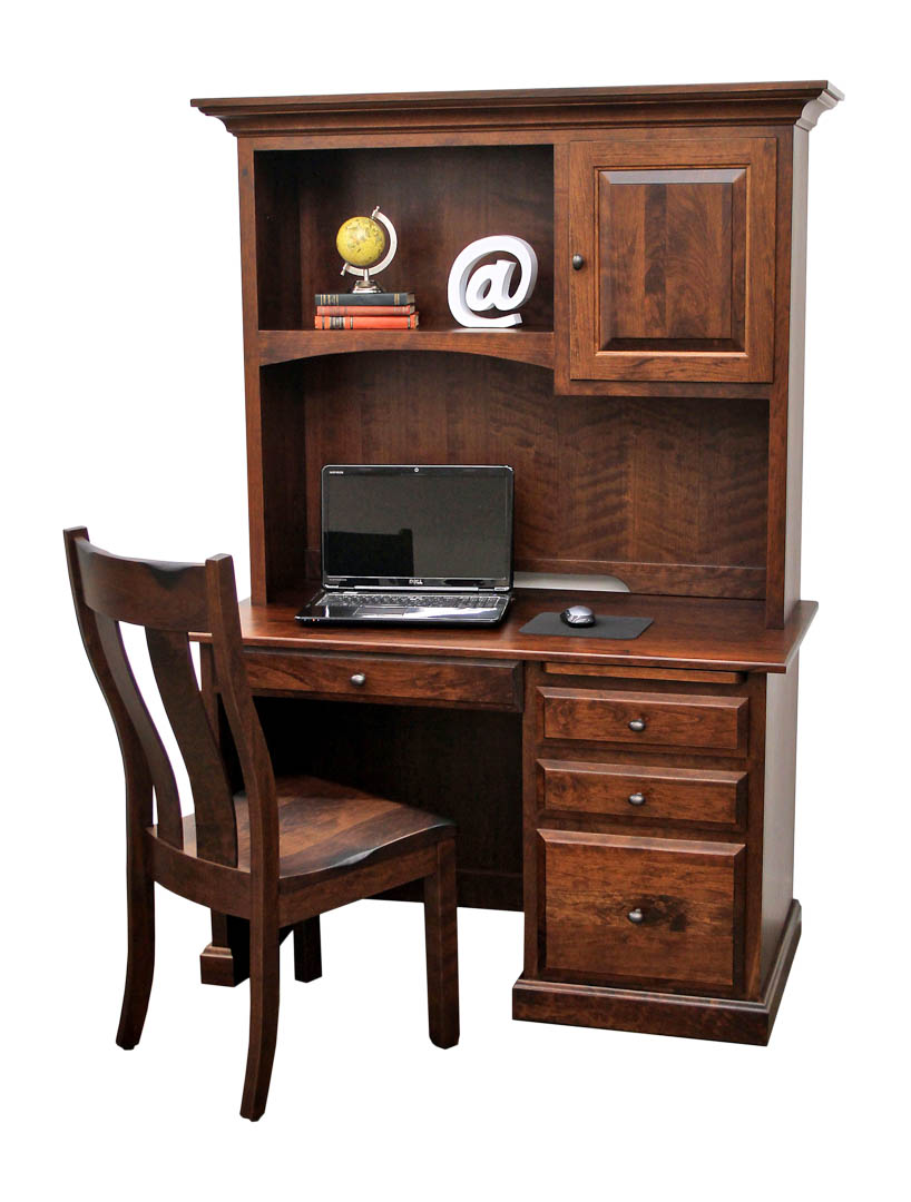 traditional student desk w hutch top dutch craft furniture. Black Bedroom Furniture Sets. Home Design Ideas