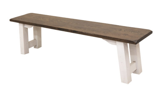 "68"" Stone Brown Settler's Bench"