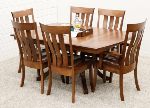 Carlisle Double Pedestal Table with 6 Curlew Chairs