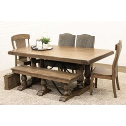 Alexandria Dining Table with 2 Kowan Chairs, 2 Shreveport & 1 Alexandria Extend-A-Bench