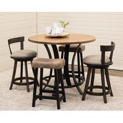 "42"" Golden Gate Pub Table with 2 Turnstone Bar Chairs & 2 Urban Stools"