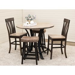 "42"" Round Golden Gate Pub Table with 2 Kinglet Bar Chairs & 2 Urban Stools"