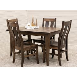 Cocoa Shaker Leg Table with 4 Arlington Side Chairs