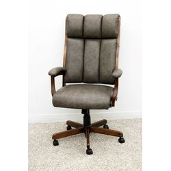 CE58 Desk Chair with Grey Leather
