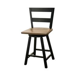 "24"" Post Mission 2-Slat Swivel Bar Chair"