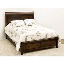 Denali Sleigh Queen Bed with Siderail/Footboard Drawers