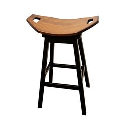 "30"" Mission Swivel Saddle Stool"