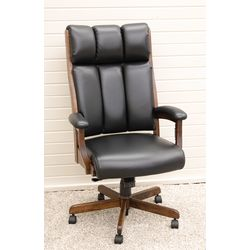 CE58 Desk Chair with Black Leather